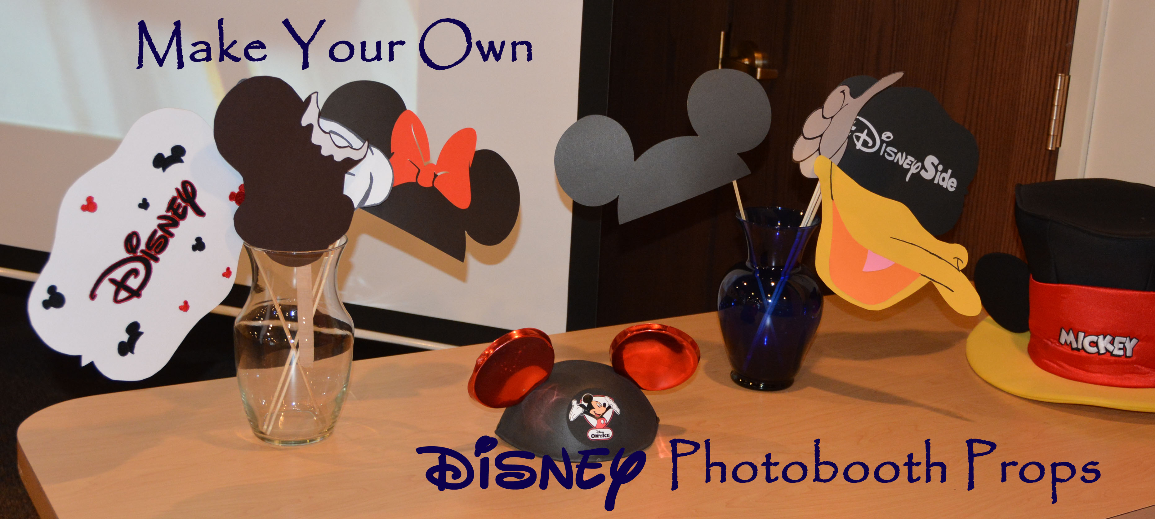 How To Make Disney booth Props with FREE printables 4 The