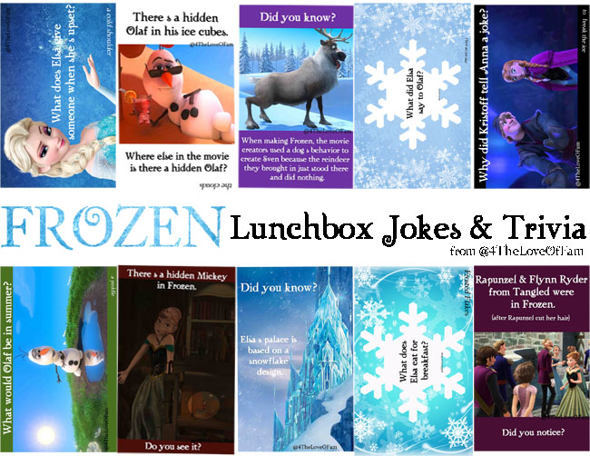frozen lunchbox jokes  u0026 trivia -free printable  frozenfunfriday