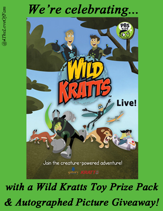 Enter the Wild Kratts Live Tour Giveaway. Ends 12/16.