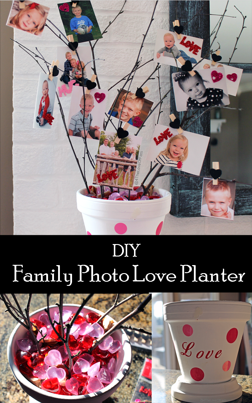 Diy Family Photo Display Click On Image To See More Home: DIY Family Photo Love Planter