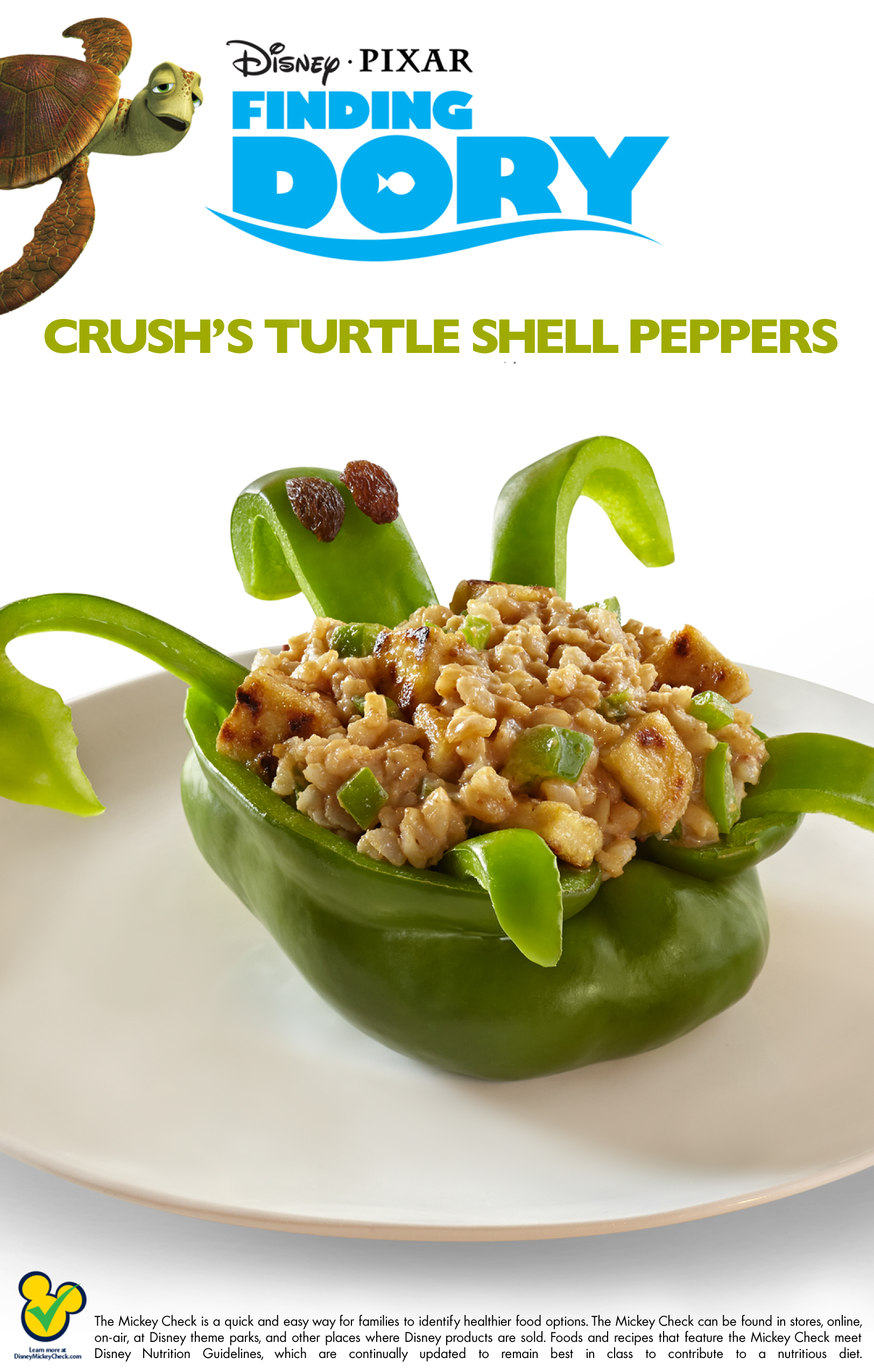 Recipe of the week archives 4 the love of family finding dory crushs turtle shell stuffed peppers recipe crush clip forumfinder Images